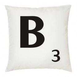 Cojín letra B apalabrados color blanco