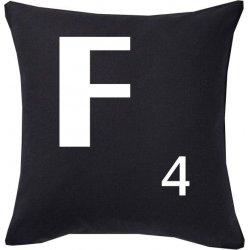 Cojines con la letra F color negro