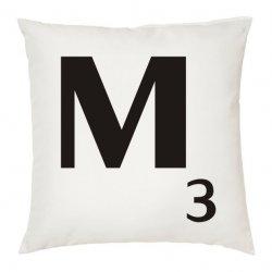 Cojines con la letra M en color blanco