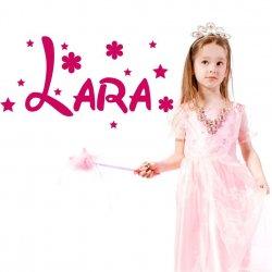 Vinilo decorativo con el nombre de Lara