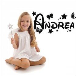 Detalles estrellas corporeas 3d para paredes nombre de Andrea