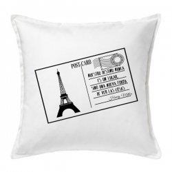 Cojín postal París en color blanco