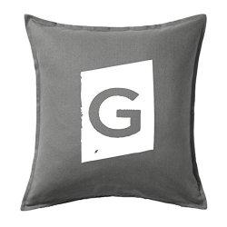 Cojines vintage online con la letra G en color blanco