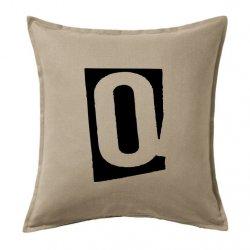 Cojines abecedario vintage con la letra Q en color negro