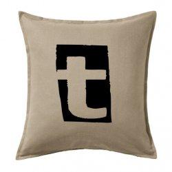 Cojines online baratos vintage con la letra T en color negro