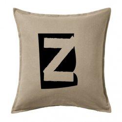 Cojines y fundas de cojín letra Z en color negro estilo vintage o retro