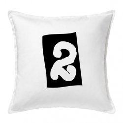 Cojín números 2 en color negro