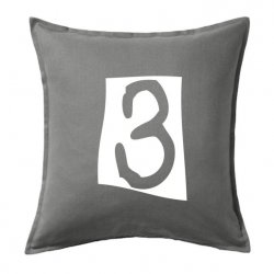 Cojines de números 3 en negro