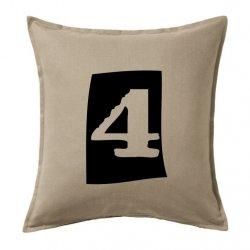 Cojines vintage numbers 4 en negro