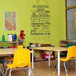 Vinilos decorativos En nuestra clase, para escuelas y colegios