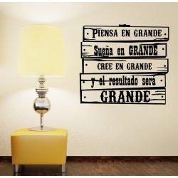 """Vinilo decorativo señal vintage """"En grande"""""""