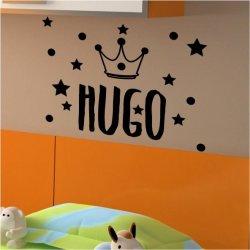 Vinilo decorativo con el nombre de Hugo