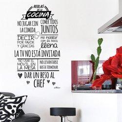Vinilos decorativos para la cocina Normas