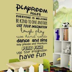 Vinilos decorativos Playroom rules