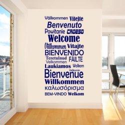 Vinilos decorativos Welcome Bienvenido idiomas