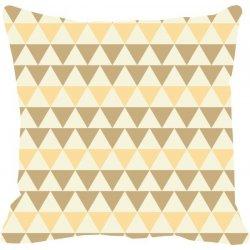 Cojín decorativo con triángulos tonalidades beig