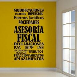 Vinilos decorativos Asesoría Fiscal