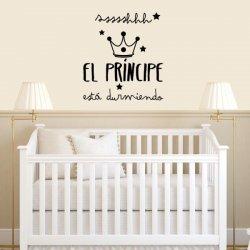 Vinilo infantil El Príncipe está durmiendo