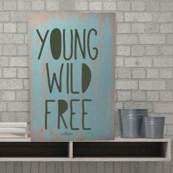 Cuadros estilo nórdico en madera Young Wild Free