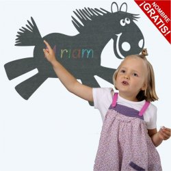 Vinilo pizarra infantil caballo