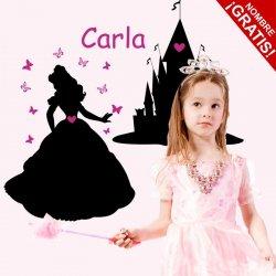 Vinilo pizarra Princesa en su Castillo
