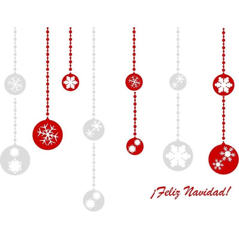 Vinilos decorativos de navidad con bolas - Vinilos decorativos de navidad ...