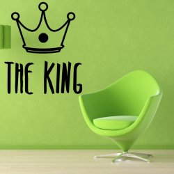 Vinilo decorativo The King