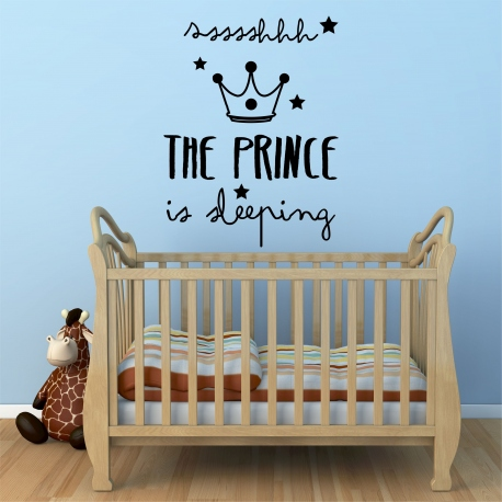 vinilo infantil The Prince is sleeping