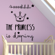 Vinilo infantil The Princess is sleeping