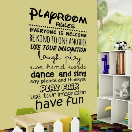 Vinilos decorativos Playroom rules
