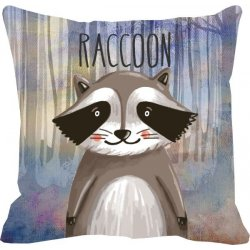 Cojín decorativo Mapache- Raccoon
