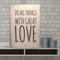 Cuadro de madera artesanal Do all things