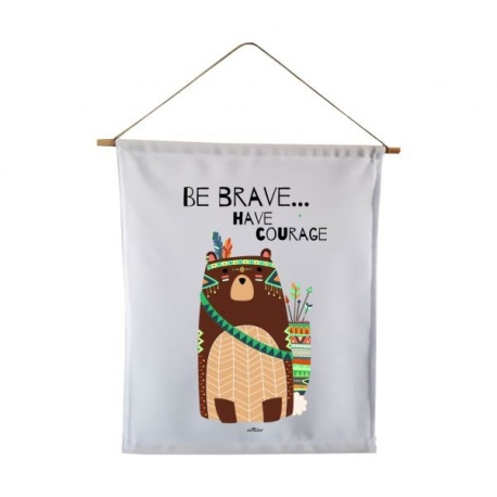 Banderola decorativa infantil Oso-Bear Tribal
