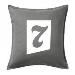 Cojines vintage decorativos número 7 | Numbers cushions color gris