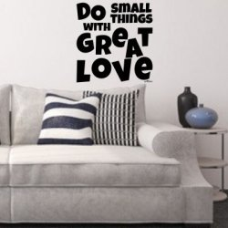 Vinilos frases en inglés Do Small Things