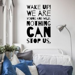 Vinilo frase inglés Wake up